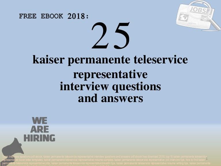 Top 25 Kaiser Permanente Teleservice Representative