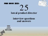 Top 25 loreal product director interview questions and answers pdf ebook free download