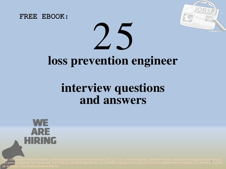Top 25 loss prevention engineer interview questions and ...