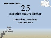 Top 25 magazine creative director interview questions and answers pdf ebook free download