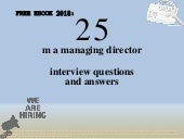 Top 25 m a managing director interview questions and answers pdf ebook free download