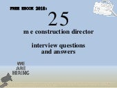 Top 25 m e construction director interview questions and answers pdf ebook free download