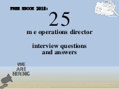Top 25 m e operations director interview questions and answers pdf ebook free download