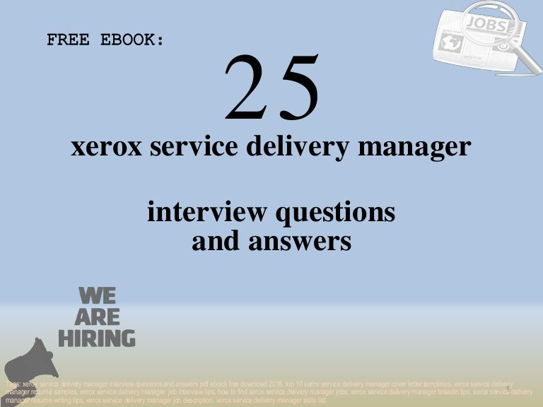 Sample interview questions and answers for service delivery manager