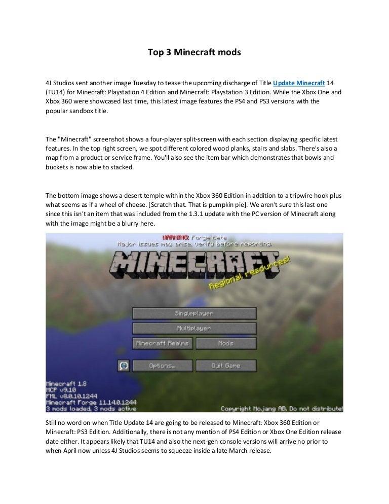 Top 3 minecraft mod