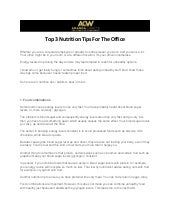 Top 3 Nutrition Tips For The Office