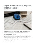 Top 3 States With The Highest Income Taxes
