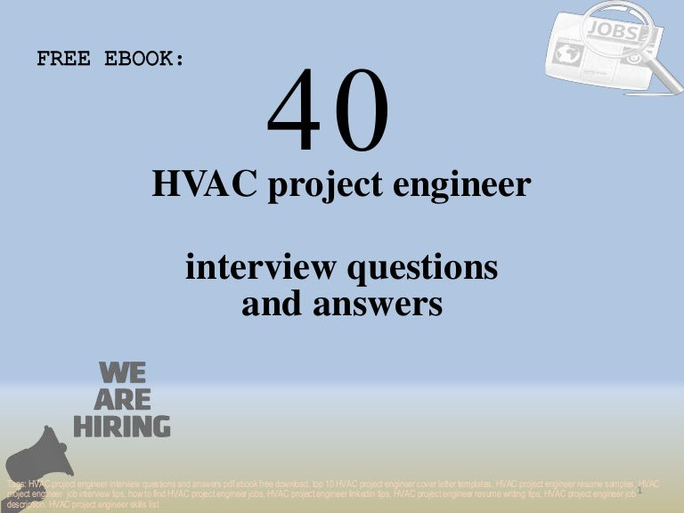 Top 40 hvac project engineer interview questions and answers ...