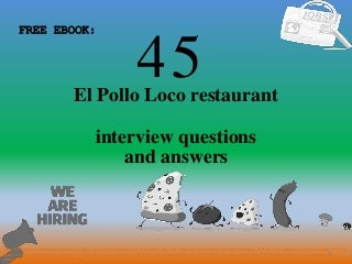 Top 45 el pollo loco restaurant interview questions and answers pdf