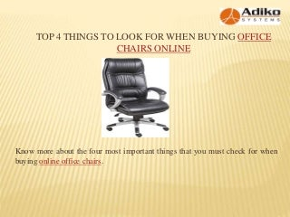 Top 4 Things To Look For When Buying Office Chairs Online