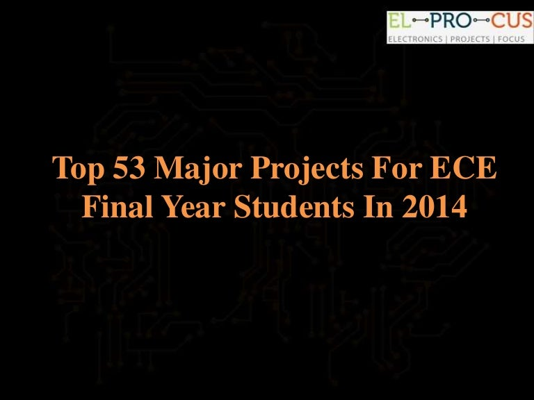 Major Projects For ECE Students
