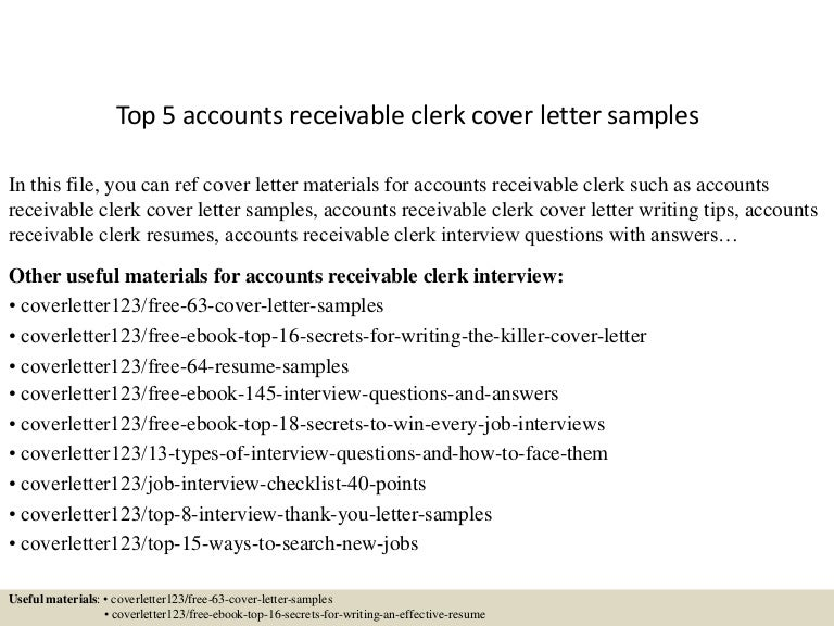 Cover Letter Accounts Receivable Specialist