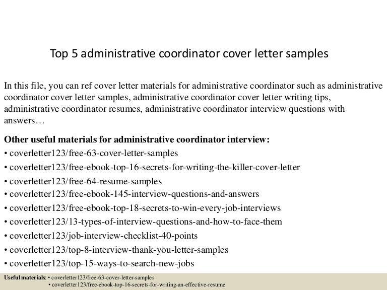 Marvelous Topadministrativecoordinatorcoverlettersampleslvaappthumbnailjpgcb   Sample  Cover Letter For Administrative Coordinator