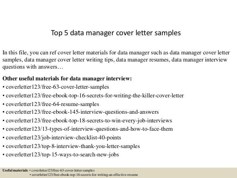 Top5datamanagercoverlettersamples 150621080522 Lva1 App6891 Thumbnail 4?cbu003d1434873973