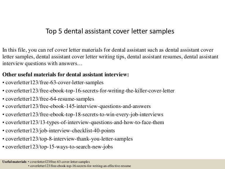 dental assisting cover letters