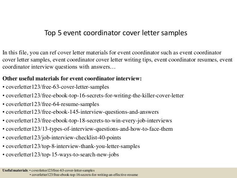 Event Planning Cover Letter from cdn.slidesharecdn.com