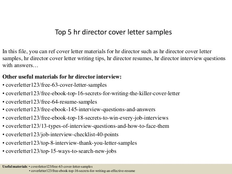 Hr Director Cover Letter from cdn.slidesharecdn.com
