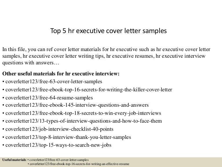 Sample Cover Letter For Hr from cdn.slidesharecdn.com