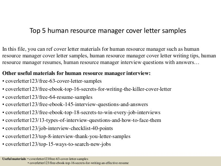 Hr Cover Letter Sample Sample Hr Cover Letters Hr Professional Cover Letter  Human Resources Cover Letter