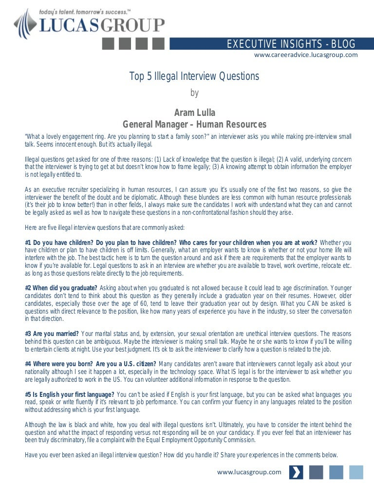 top5illegalinterviewquestions 140818151135 phpapp02 thumbnail 4jpgcb1408374772 - Is There Any Questions You Would Like To Ask Us Interview Question