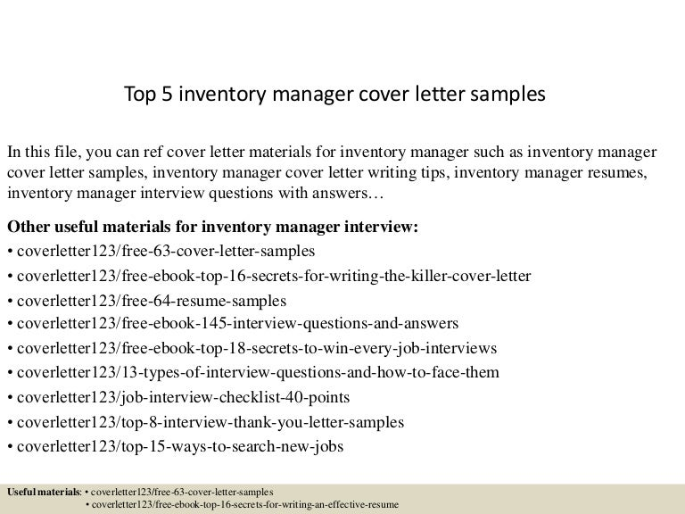 top5inventorymanagercoverlettersamples 150620033533 lva1 app6892 thumbnail 4jpgcb1434771384 inventory manager resume