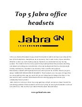 Top 5 jabra office headsets 2018