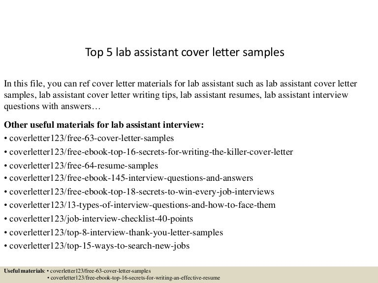sample cover letter research assistant
