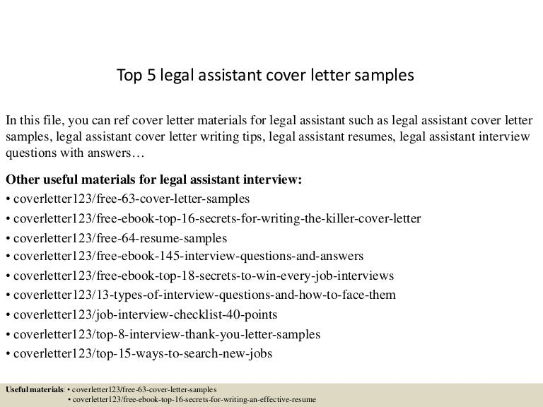 Legal cover letter samples