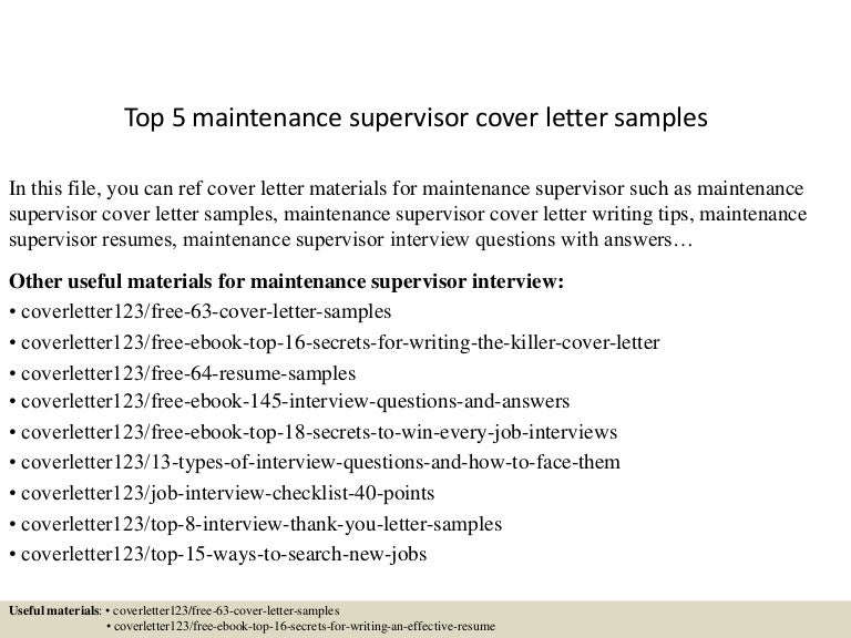 shift supervisor cover letter sample. basic warehouse supervisor ...