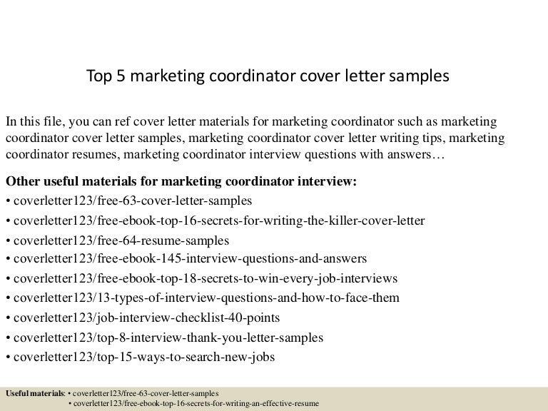 Cover Letter For Marketing Coordinator from cdn.slidesharecdn.com