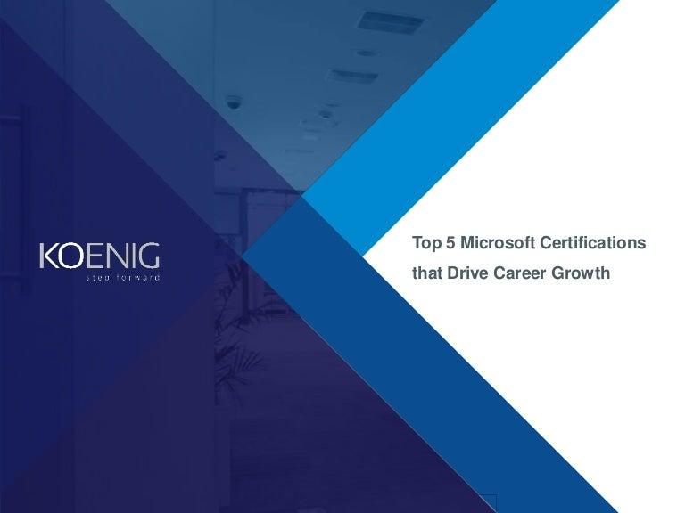 Top 5 Microsoft Certifications