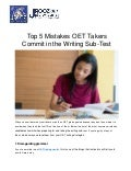Top 5 Mistakes OET Takers Commit in the Writing Sub-Test