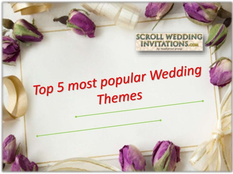 Top 5 most popular wedding themes