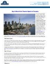 Top 5 Must Visit Tourist Spots in Toronto