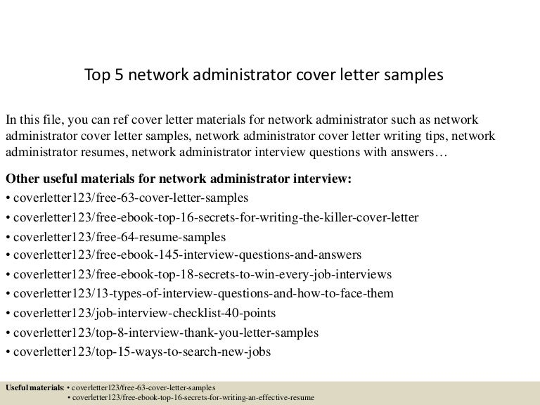 top5networkadministratorcoverlettersamples 150618025931 lva1 app6891 thumbnail 4jpgcb1434596432 - Network Administrator Interview Questions And Answers