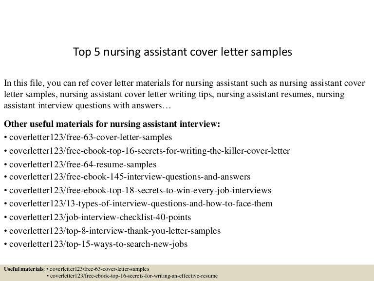 top5nursingassistantcoverlettersamples150618084612lva1app6892thumbnail4jpgcb 1434617229 – Nurse Assistant Cover Letter