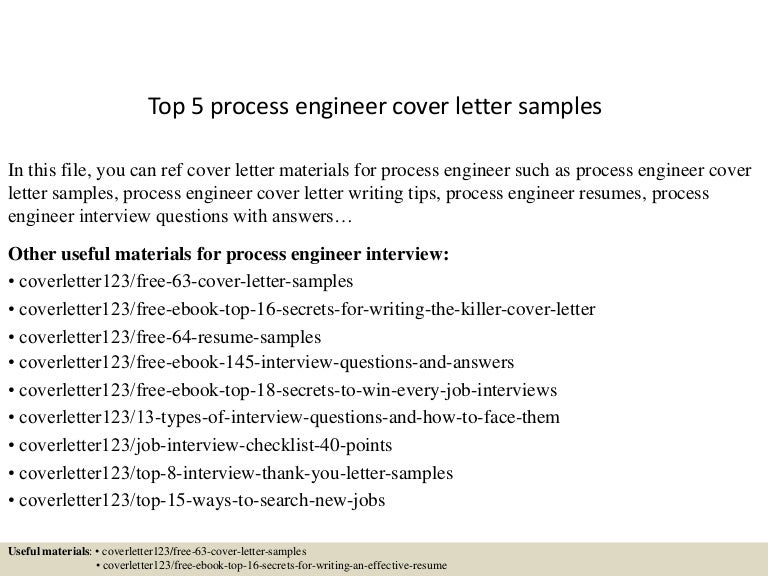 process engineer cover letters