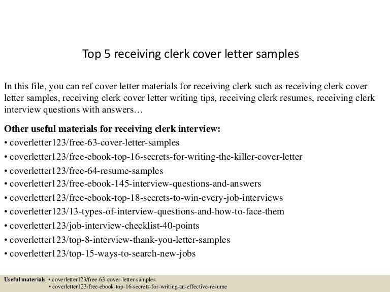 receiving clerk resume resume cv cover letter