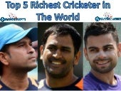 Top 5 richest cricketer in the world by 2018