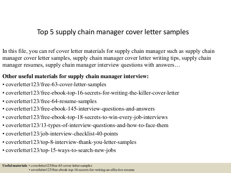 top5supplychainmanagercoverlettersamples 150619081244 lva1 app6891 thumbnail 4jpgcb1434701623 supply chain manager cover letter