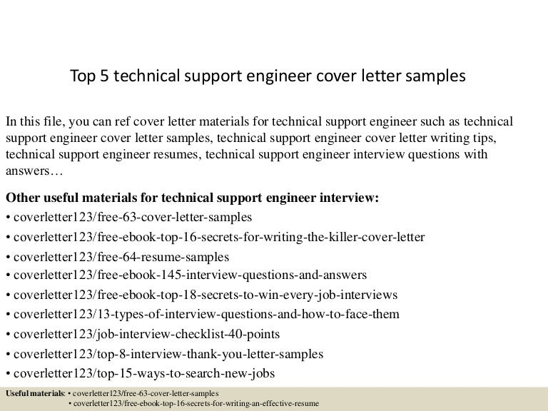 ICT Support Technician Cover Letter Sample