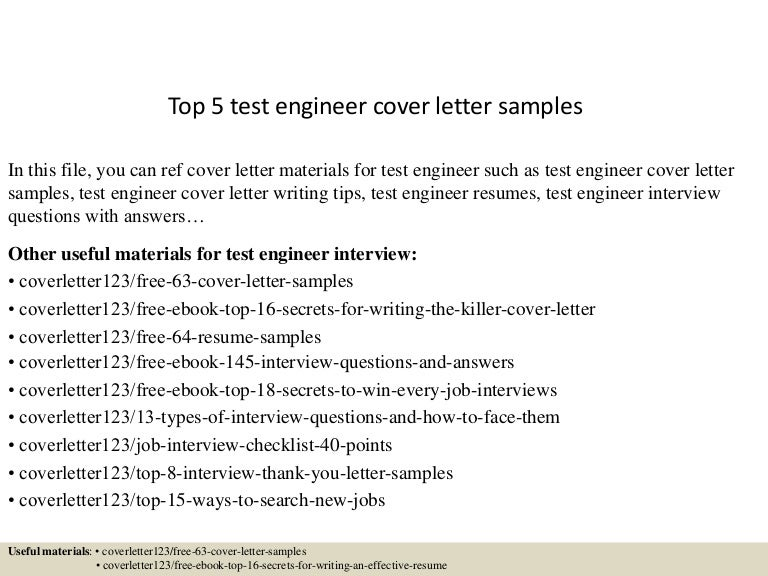 Test Engineer Cover Letter. Test Analyst Cover Letter. Junior Test ...