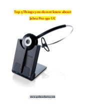 Top 5 things to know about jabra pro 930 uc