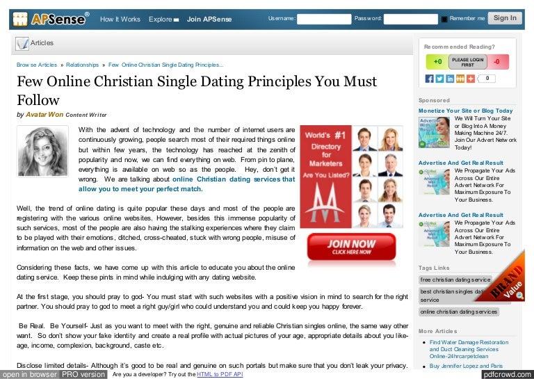 Starting up an online dating website
