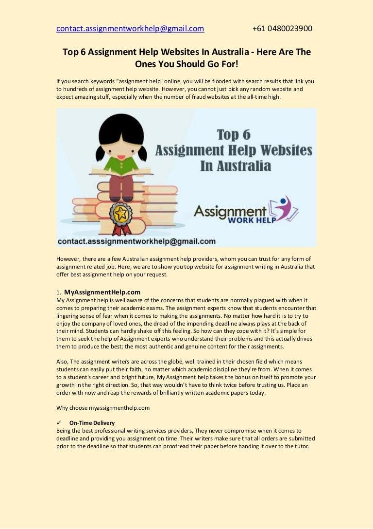popular assignment writer websites au
