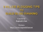 Top 6 Blogging Tips That Helps Building Blog Ranking