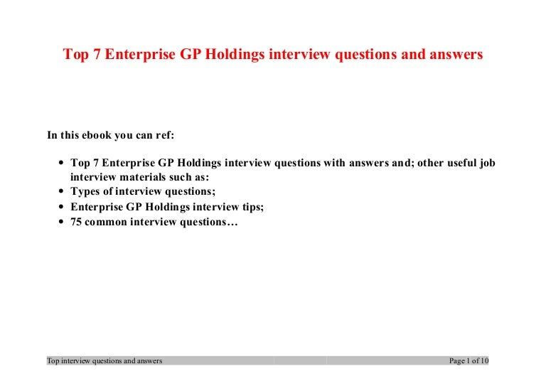 Enterprise Rent A Car Interview Questions And Answers