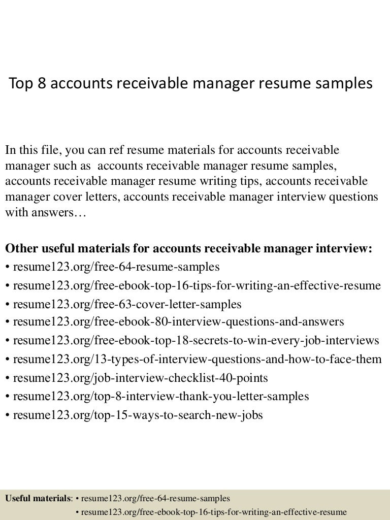 resume Accounts Receivable Resume top8accountsreceivablemanagerresumesamples 150402093948 conversion gate01 thumbnail 4 jpgcb1427985640