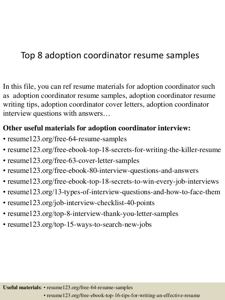 adoption case manager cover letter - Template