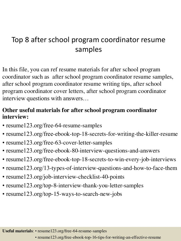 topafterschoolprogramcoordinatorresumesamples lva app thumbnail jpg cb